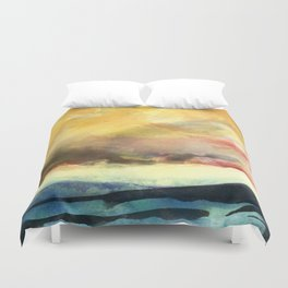 Yellow Sky Duvet Cover