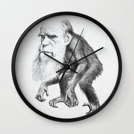 Charles Darwin as an Ape, caricature 1871 Wall Clock