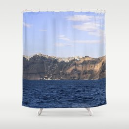 Santorini, Greece 17 Shower Curtain