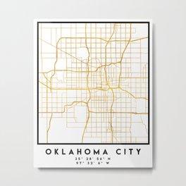 OKLAHOMA CITY STREET MAP ART Metal Print