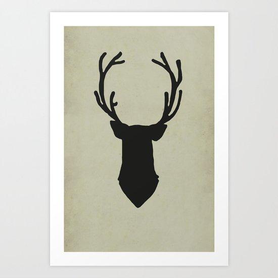 Le cerf my deer. Art Print