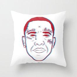 3D barack Throw Pillow
