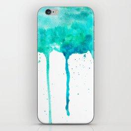 SEA GREEN GALAXY SPLASH iPhone Skin