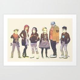 Teen Titans Streetwear Art Print