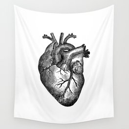 Vintage Heart Anatomy Wall Tapestry