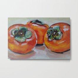 Food, fruit, persimmon, sweet, taste Metal Print