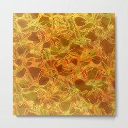 amber floral Metal Print