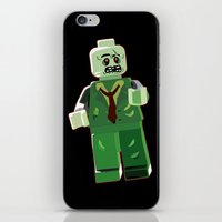 zombie iPhone & iPod Skins featuring Zombie by Emma Harckham