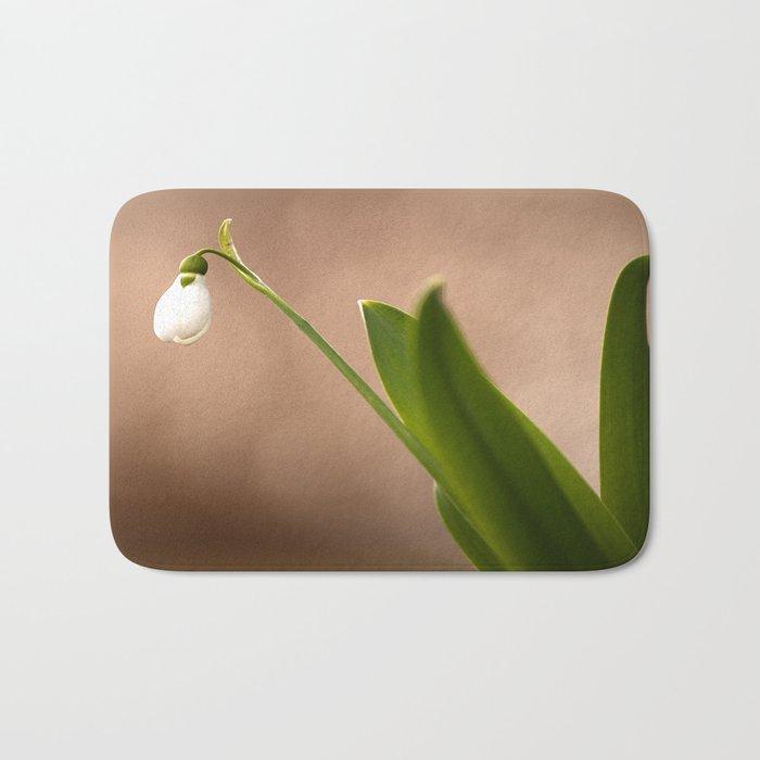 Spring Flower Snowdrop #decor #society6 Bath Mat