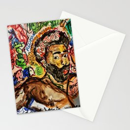 childish, this is america,colourful,colorful,poster,wall art,fan art,music,hiphop,rap,legend,shirt,p Stationery Cards