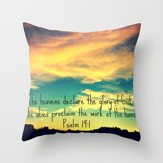 God's Handiwork Throw Pillow