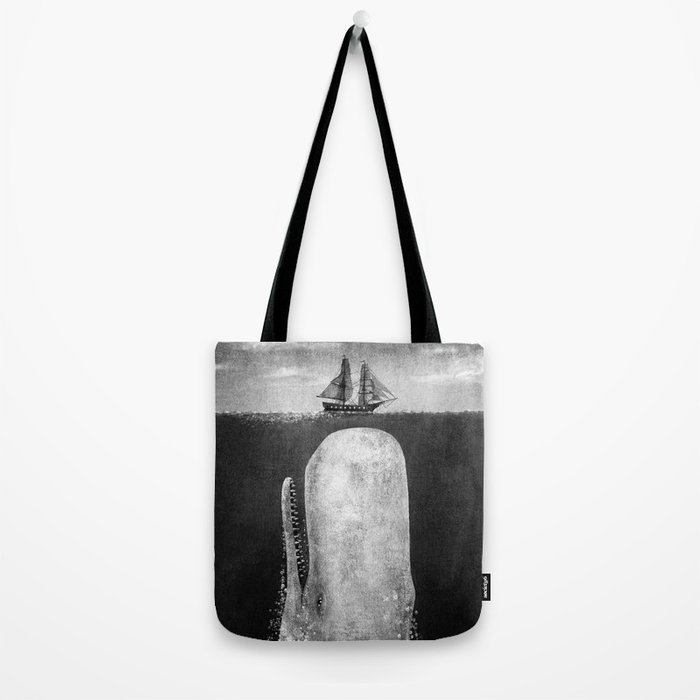 The Whale - mono (exclusive to S6) Tote Bag