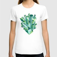geode T-shirts featuring Emerald Watercolor by Cat Coquillette