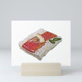 Sushi Sasazushi seasonal turnips pickled daikon walnuts plate Mini Art Print