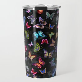 Butterfly Forest {black} Travel Mug