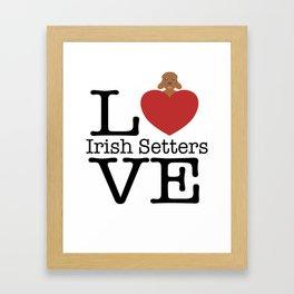 Love Cute Irish Setters Framed Art Print