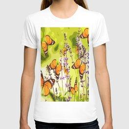 Butterflies and flowers - summery atmosphere in late summer - #pivivikstrm #buyart T-shirt