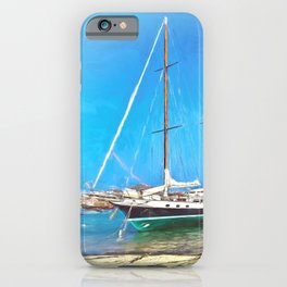Anchored at the Scillies iPhone Case