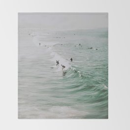 lets surf iv / venice beach, california Throw Blanket