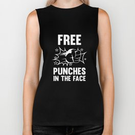 Free Punches In The Face Biker Tank