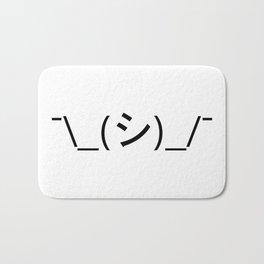 Oops Shrug Emoticon ¯\_(シ)_/¯ Japanese Kaomoji Bath Mat