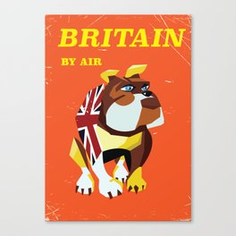 Britain Bulldog vintage travel poster Canvas Print