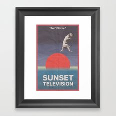 Sunset Television Poster Framed Art Print