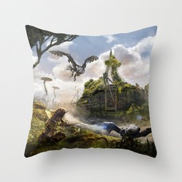Cardiff [Horizon Zero Dawn] Throw Pillow