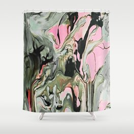 Dream in Greige and Pink Shower Curtain