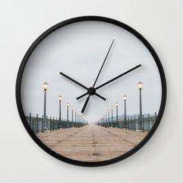 Morning at the Pier Wall Clock