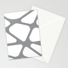 Unique gray and white organic design Stationery Cards