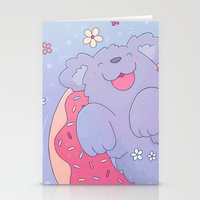 donut Stationery Cards featuring Donut by Nandi Appleby