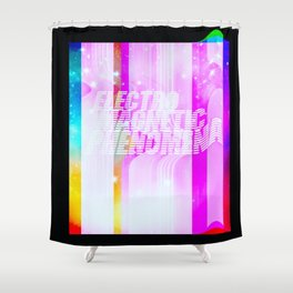 Electro Magnetic Phenomena Shower Curtain