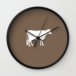 Cow: Brown Wall Clock