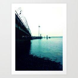 The Dock. Art Print