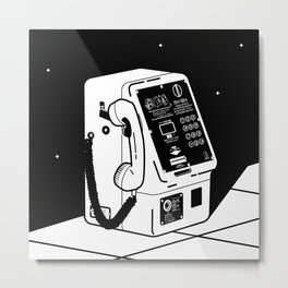 Japanese public phone Metal Print