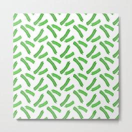 Sprig of Acacia Middle Eastern Foliage Vegetation Pattern Metal Print