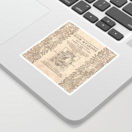 Cervantes. Don Quijote, 1605. Sticker