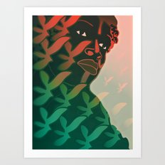 Ebony Green Art Print