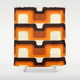 Mid-Century Modern Meets 1970s Orange Shower Curtain
