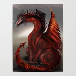 Challengers World Abstract Dragon Art Poster