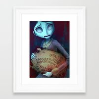 ouija Framed Art Prints featuring Ouija by CottonValent