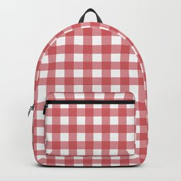 Classic red plaid Backpack