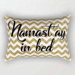 Namast'ay in bed Rectangular Pillow