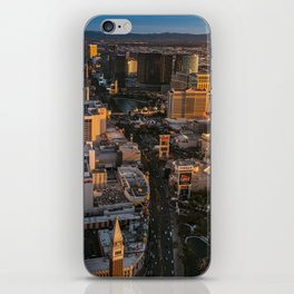 Sunset over Las Vegas Strip iPhone Skin