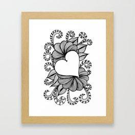 Heart Doodle 1407 Framed Art Print