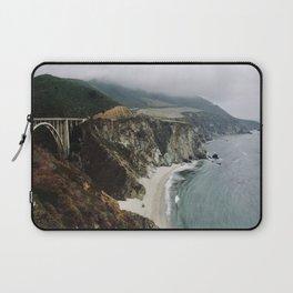 Bixby Bridge and Beach, CA Laptop Sleeve