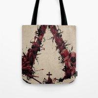 saga Tote Bags featuring Assassin's Creed Saga by s2lart