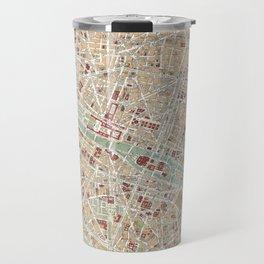 Vintage Map of Paris (1892) Travel Mug