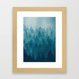 Misty Pine Forest Framed Art Print